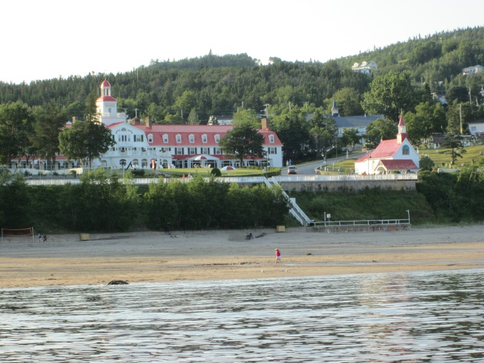Tadoussac, Quebec, Canada on St. Lawrence River, which flows into the Atlantic Ocean