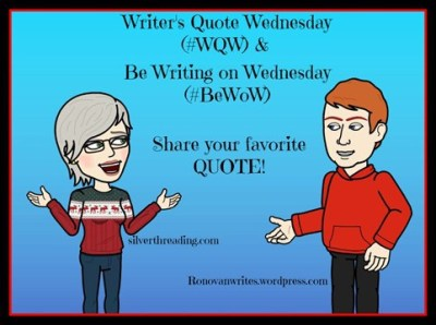 Writers quote wednesday badge