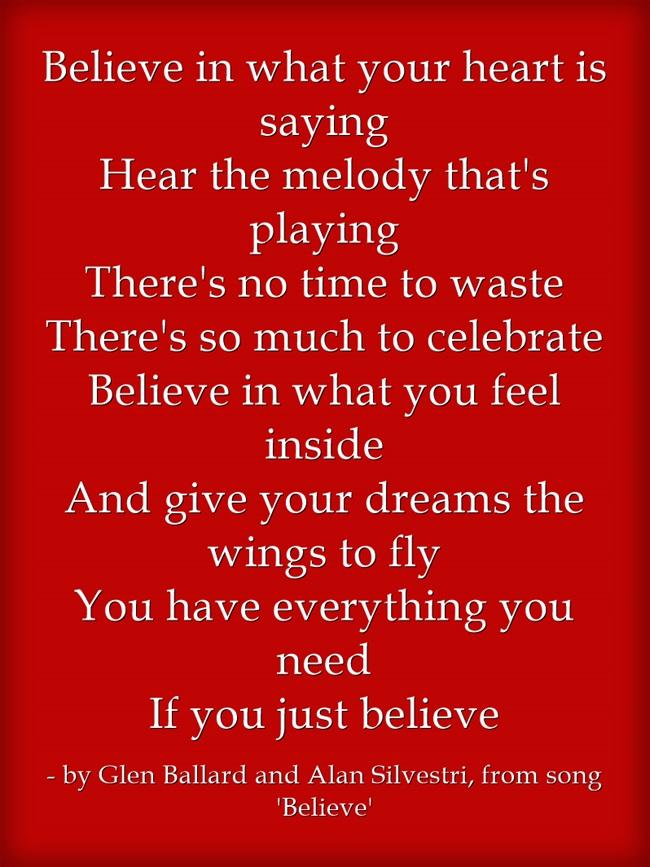 Believe Refrain